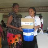 IPPF-SPRINT staff distributing dignity kits