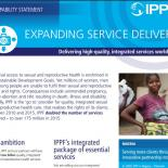 IPPF Services Capability Statement - cover