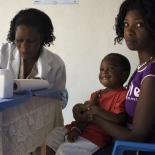 mother and child during a medical visit