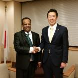 Director General Tewodros Melesse and H.E. Mr. Hitoshi Kikawada, Parliamentary Vice-Minister for Foreign Affairs