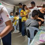 FPOP and IPPF-SPRINT staff working with displaced people in the Philippines