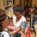 Taiwo receiving care at the FFPN clinic