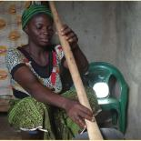 Thanks to solar lanterns, women can work after sunlight.
