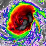 Infrared image of the Typhoon taken by NOOA http://www.noaa.gov/
