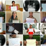 Collage of different photos shared on social media during IPPF #StopViolence campaign