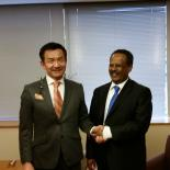Japan's Vice Minister of Foreign Affairs, Mr Odawara, with Director General of IPPF