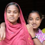 Two Bangladeshi girls standing together