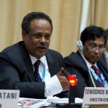 Tewodros Melesse, IPPF's Director General, during a conference.