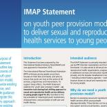 IMAP Statement on youth peer provision models to deliver sexual and reproductive health services to young people
