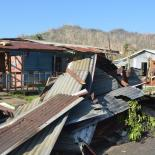 IPPF helps near this destroyed house after Cyclone Winston, Fiji