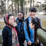 Young refugees in Sweden. Credits: Otter Magazine