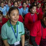 Cambodian workers at health day organised by Reproductive Health Association of Cambodia - credits: IPPF/Omar Havana/Cambodia