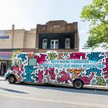 Keith Haring covered Project Street Beat mobile clinic in New York