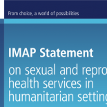 IMAP statement SRH in Humanitarian settings