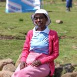 Raphel Kori, earns an income as a peer educator with Lesotho Planned Parenthood Association (LPPA). Nine months into her role, she goes door to door in her village trying to ensure parents understand the needs of adolescents in their village and why contraception and services like HIV testing is a protective measure for young people.