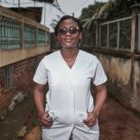 Aline a midwife at SOA clinic