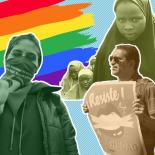 Pride flag, protesters and Chibok girls