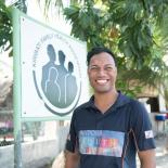 Abe, Assistant Youth Officer for the Kiribati Family Health Association