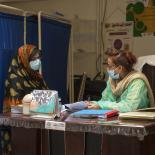 women at clinic receives contraception - Pakistan