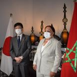 H.E. Ambassador Takashi Shinozuka, Ambassador Extraordinary and Plenipotentiary of Japan to Morocco and Dr Latifa Mokhtar JAMAI, President of AMPF, IPPF's Member Association in Morocco, at the JTF project launch ceremony