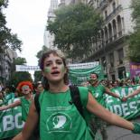 the green wave activists from Argentina