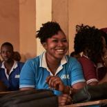 Aminata Sonogo in school