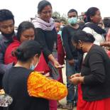 people at medical camp in Nepal