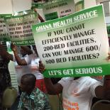 activists asking for better hospital conditions