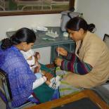 Mother and child during medical visit