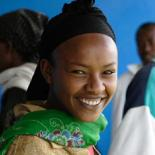 smiling Ethiopian woman