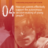 How can parents effectively support the autonomous decision-making of young people?