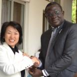 Lucien Kouakou, IPPF Africa Regional Director, and Dr Toshiko Abe, Japanese Vice-Minister for Foreign Affairs