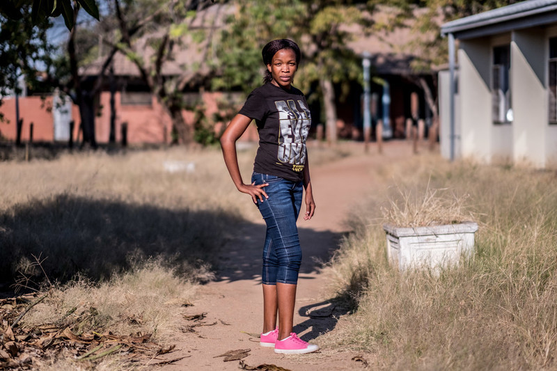 Goabaone, a sex worker and volunteer for MCDA, in Francistown, Botswana